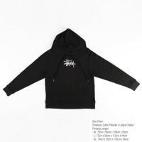 sweater hoodie stussy baby terry hoodie pria - Hitam, L