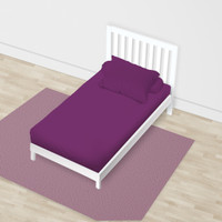 SPREI SINGLE FULL FITTED CALIFORNIA POLOS EMBOSS 120x200 PURPLE GRAPE