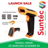 Auto-Scan Wireless Barcode Scanner 2D QR Code/ eFaktur by RADALL S8