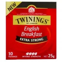 twinings tea english breakfast xtra strong isi 10 bags