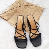 Sandals Heels 5 cm - Alana - Hitam, 36