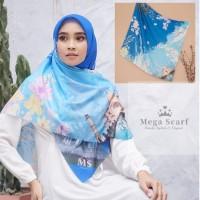 Taj Mahal Blue Sky Premium Hijab/ Jilbab/ Scarf / Kerudung