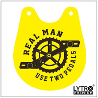 Bike Tag - Real Man Use Two Pedals - Gantungan Sadel Sepeda