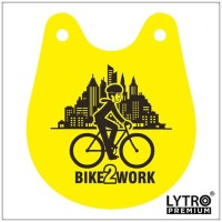 Bike Tag BIKE TO WORK - Gantungan Sadel Sepeda