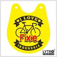 Bike Tag I LOVE FIXIE - Gantungan Sadel Sepeda