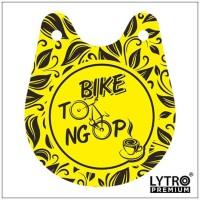 Bike Tag BIKE TO NGOPI - Gantungan Sadel Sepeda