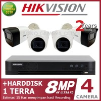 PAKET CCTV HIKVISION 8MP 4 CHANNEL HDD 1TB