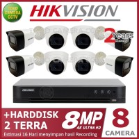 PAKET CCTV HIKVISION 8MP 8 CHANNEL HDD 2TB