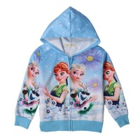 Tng Jaket Anak Perempuan Frozen Elsa Anna Warna Pink (3-8tahun)
