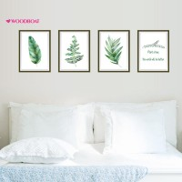 Woodboat Nordic Style Plants Photo Frame Wall Sticker Waterproof Cafe