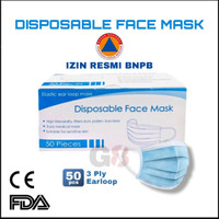 masker 3ply disposable isi 50