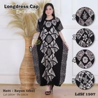 Daster/Longdress Kelelawar Jumbo Batik Cap Warna Hitam Putih