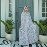 Baju Dress Gamis Wanita / Casual Dress Homedress Series 3 Coral reef