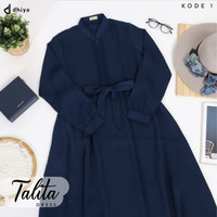 Baju Dress Gamis Wanita / TALITA DRESS / Bahan Badame Pretty