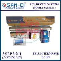 Pompa Air Satelit SAN EI 3 INCH 0.5 HP / Satelit 1/2 HP TANPA KABEL