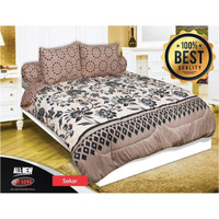 """Bed Cover Super King My Love """" SEKAR """" 200x200 BEST QUALITY"""