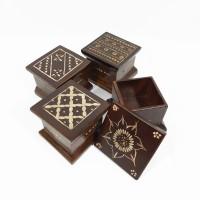 Kotak Box Kayu Jati Ukir Tempat Perhiasan Cincin Batu Akik