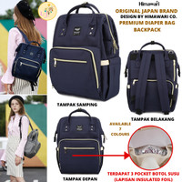 Himawari Japan Brand Premium Diaper Bag Backpack ORI Tas Bayi Import