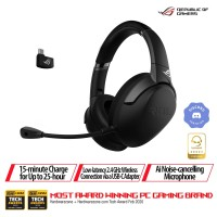 ASUS ROG Strix Go 2.4 Wireless Gaming Headset with AI Noise Cancelling