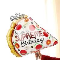Balon Foil Pizza Happy Birthday Have A Supreme / Balon Foil Food Makan