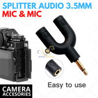 Splitter Audio Shape U 3.5mm ke Mic & Mic