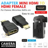Adapter Mini HDMI To HDMI female Kamera Mirrorless ,dll