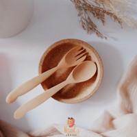 Wooden Spoon Fork/Sendok Garpu Kayu/Sendok Teh Kopi