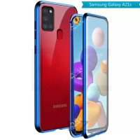 Magnetic Magnet Double Glass Front back Case Cover Samsung Galaxy A21S
