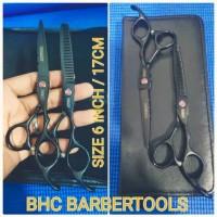 paket alat gunting manual pemotong rambut besi stenlist hair scissors