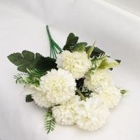 Pompom Hydrangea 7 Kuntum 2 Warna Bunga Artificial Dekorasi