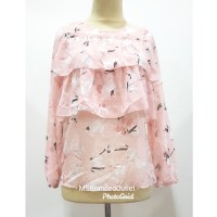 Blouse Ceruty Pink L*imited Sisa Export