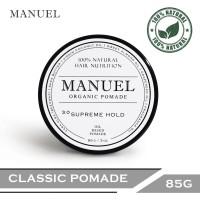 MANUEL Organic Pomade - White(Supreme Hold) 85g - Pomade Alami