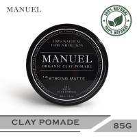 MANUEL Organic Pomade - Black(Strong Matte) 85g - Pomade Alami
