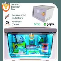UV-C Box Sterilisasi 2 Lampu TUV Otomatis Kotak Sterilizer Germicidal