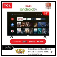 TCL 32 inch LED Smart Tv 32A3 HD Google certified with AI &Dolby Sound