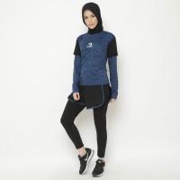 Setelan Baju Training Outdoor Waldos Hijab Muslim Senam RROMO Blue