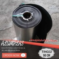plastik plat lapis alumunium 90 cm fiber pagar karpet talang