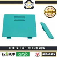 Tutup cover USB dan Battery Xiaomi Yi Action Camera / Yicam Hijau