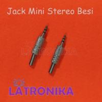 Jack Mini Stereo Besi Metal 3.5mm Jek Jack Audio Besi Stereo 3,5mm