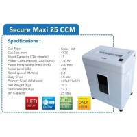 Mesin Penghancur Kertas Paper Shredder Secure Maxi 25CCM