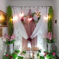 sewa dekorasi backdrop akad nikah dan lamaran 2,2 meter