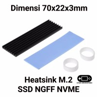 Heatsink M.2 SSD NGFF NVME Laptop Notebook PC M2 Plus Thermal Pad