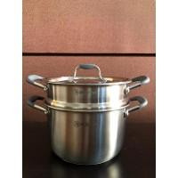 NO BOX Zebra Sauce Pot 22 Cm W/Steamer Estio P101 (163741) / Panci SS