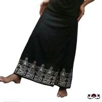 Celana Sarung Batik Polos - Black