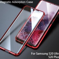 Magnetic Duoble Glass Case Cover Samsung S20 / S20 Plus / S20 Ultra