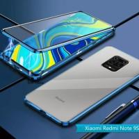 Magnetic Magnet Duoble Glass Cover Xiaomi Redmi Note 9 pro Max
