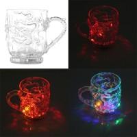Gelas Mug Bentuk Naga dengan Lampu LED Menyala Warna Pelangi