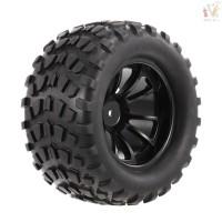 RCC 4PCS 1 10 Tyre Nail Block Tread Pattern 10 Spokes Rim for 1 10 H