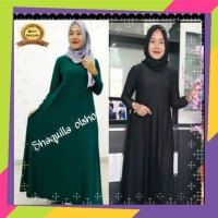 Gamis Polos Bahan Jersey Fit To L