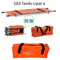 GEA Tandu Lipat 4 Folding Strecher YDC 1A10 Alumunium